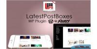 Post latest plugin wordpress boxes