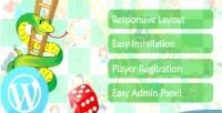 Responsive wordpress snake game ladder and