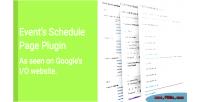 Schedule events presentation