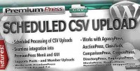 Scheduled premiumpress csv upload