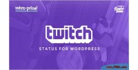 Status twitch for wordpress