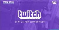 Status twitch for wordpress