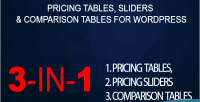 Tables pricing sliders wordpress comparison for tables