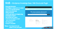 Wordpress knb knowledge shortcode wiki base