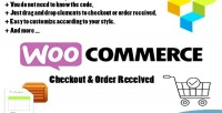 Order checkout received with page woocommerce composer visual for