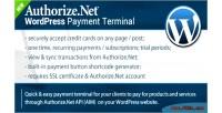 Payment authorize.net terminal wordpress