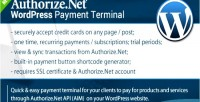 Payment authorize.net terminal wordpress