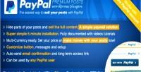 Premium paypal posts plugin wordpress paywall