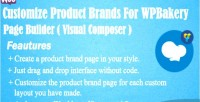 Product customize brands for page wpbakery builder composer visual