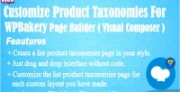 Product customize taxonomies builder for page wpbakery