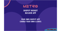 Shopify metro app galleries filterable widgets home