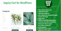 Inquiry simple wordpress for cart