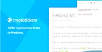 Tickers cryptocurrency 1 000 price crypto wordpress for tickers