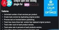 Ab woocommerce split testing