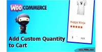 Add woocommerce custom cart to quantity