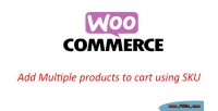Add woocommerce multiple to products sku using cart