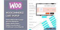 Add woocommerce popup cart to