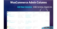 Admin woocommerce on add columns