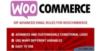 Advanced sip email woocommerce for rules
