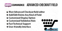 Advanced woocommerce checkout field