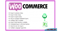 Advanced woocommerce export