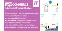 Advanced woocommerce product label