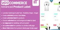 Advanced woocommerce product label