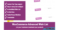 Advanced woocommerce wishlist