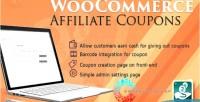Affiliates woocommerce coupon