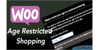 Age woocommerce restricted shopping