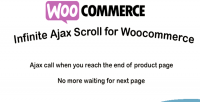 Ajax infinite scroll woocommerce