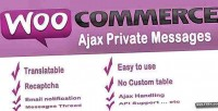 Ajax woocommerce private message
