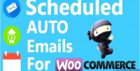 Auto scheduled emails products woocommerce for