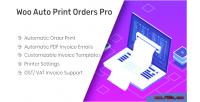 Auto woo pro orders print