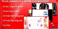Background custom & woocommerce for banner