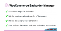 Backorder woocommerce manager