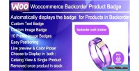 Backorder woocommerce product badge