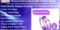Backorder woocommerce product badge