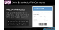 Barcodes order for woocommerce
