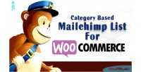 Based category mailchimp woocoomerce for list