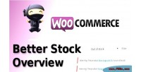 Better woocommerce stock overview
