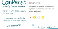 Bitcoin coinprices conversion litecoin dogecoin