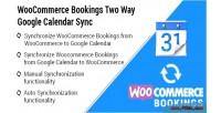 Bookings woocommerce sync calendar google