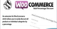 Bulk woocommerce percentage discount