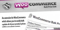 Bulk woocommerce price edit