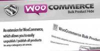 Bulk woocommerce product hide