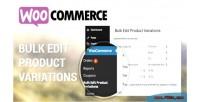 Bulk woocommerce variations product edit