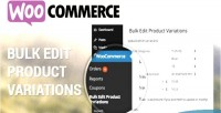 Bulk woocommerce variations product edit