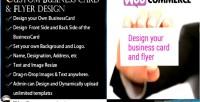 Business woocommerce design flyer card