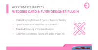 Business woocommerce wedding plugin card designer flyer